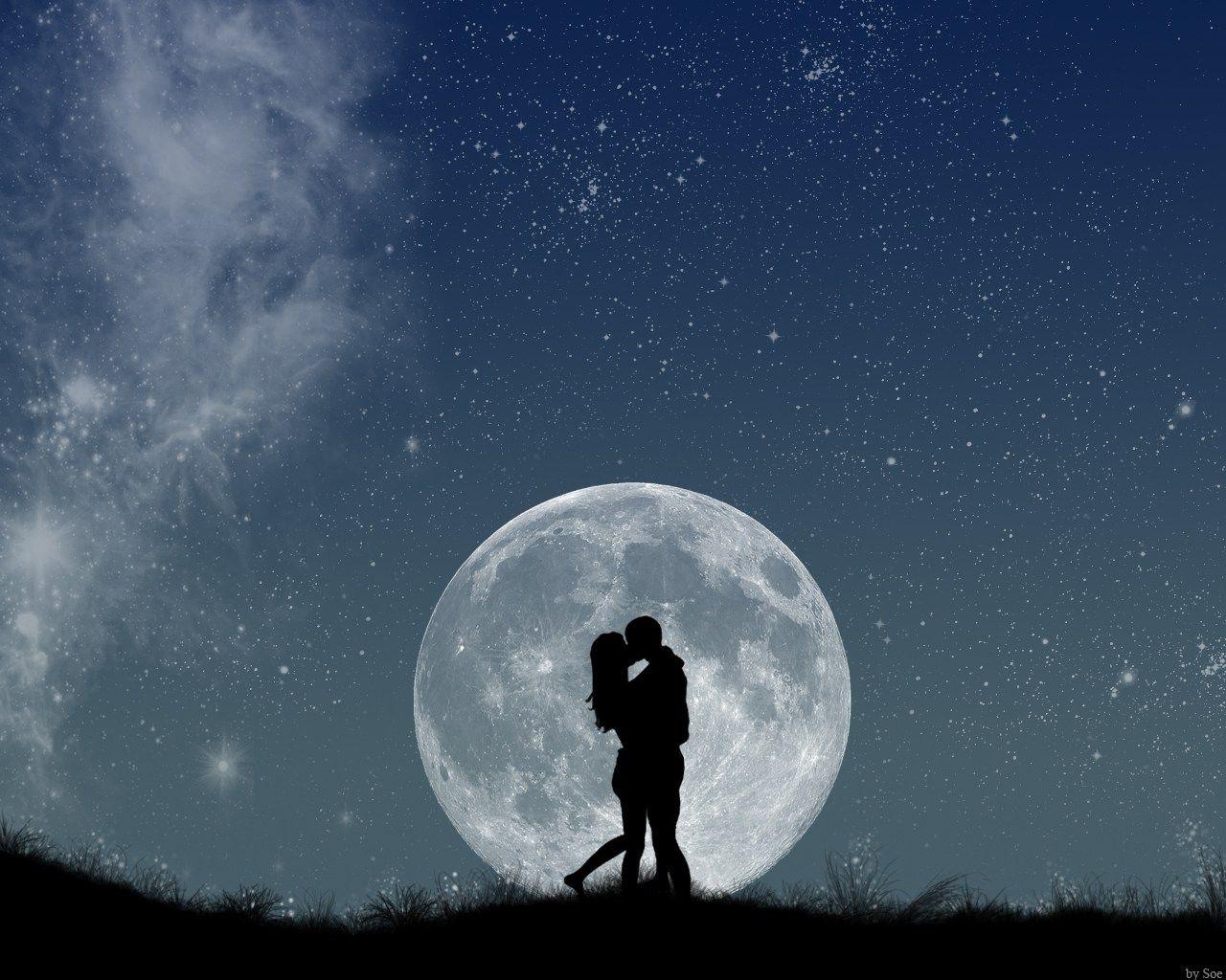 A lua lhe trouxe um presente